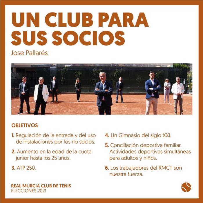 José Pallarés Candidato Elecciones Real Murcia Club de Tenis 2021